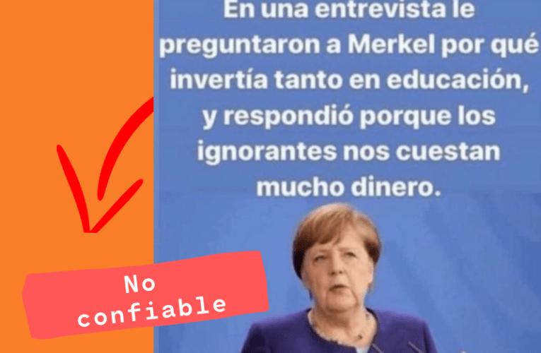 ¿Merkel dijo esto realmente?