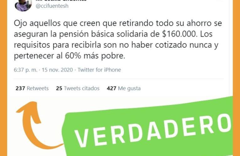 ¿Son estos los requisitos para la Pensión Básica Solidaria?