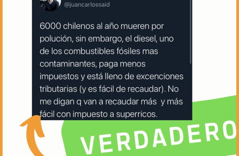 ¿Mueren 6000 chilenos al año por polución?