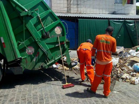 Esquema de coleta de lixo