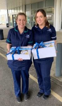 Happy Cakes boxes with nurses