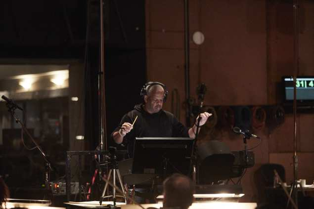 Da Five Bloods scoring session with Terence Blanchard and Spike Lee on Wednesday, October 30, 2019 at Sony Studios