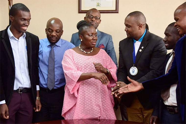 Uganda Medical Association meet Speaker Kadaga at Uganda parliament - Photo by Observer Media Ltd