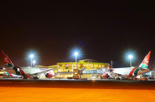 The girls were intercepted at Jomo Kenyatta airport