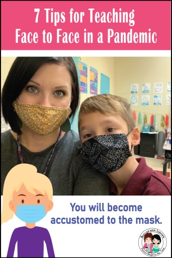 While teaching face to face during a pandemic, you will become accustomed to the mask.