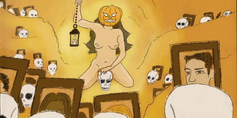 Sexy Jack the Lantern Halloween Illustration