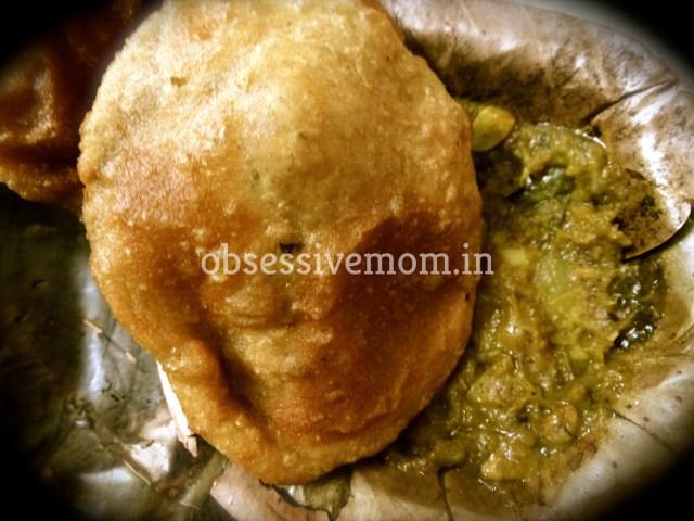 Aloo puri, the staple at Bara Mangal