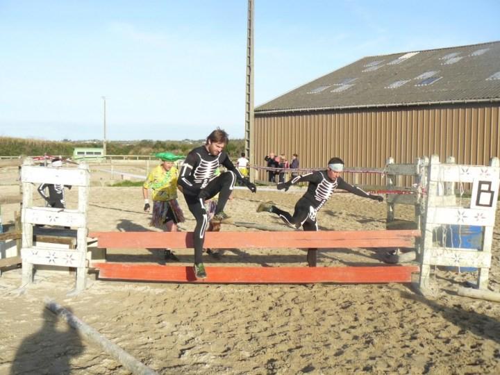 Le saut d'obstacles… équestre.