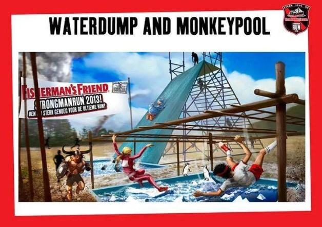 Waterdump en Monkeypool Strongmanrun 2013