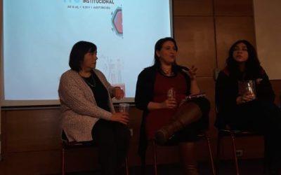 Las profesoras Maritza Cofré y Patricia Rodríguez participaron en el foro: «ITS, una mirada institucional»