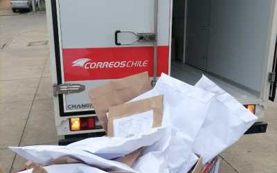 Última etapa del envío de los kit de insumos mediante Correos de Chile