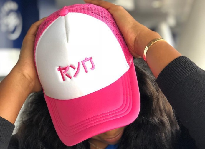 Yvonne Nelson sells caps to raise funds for new mothers