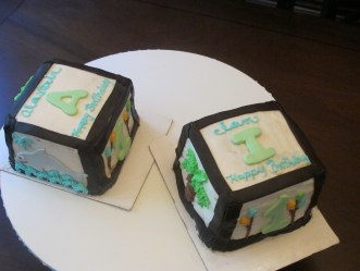 Twin's 1st Birthday Cakes!