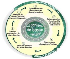 Cycle de gestion intégrée de l'eau par bassin versant