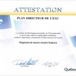 Approbation ministérielle du PDE de l'OBV Duplessis