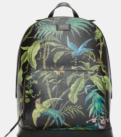 Purchase: Gucci Zaino Botanical Printed Leather Backpack