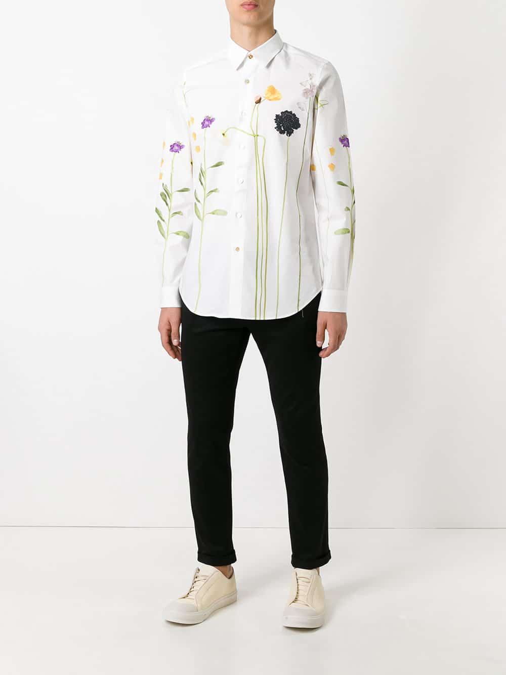 PAUL SMITH Floral Print Shirt Look