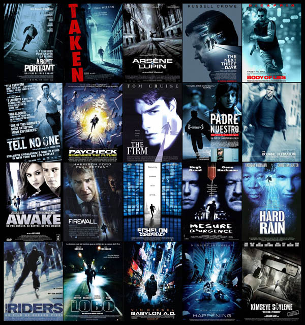 cartazes, cinema, cliche, hollywood, poster