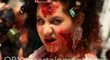 The Zombie Walk kicked off the first ever Blood at the Beach Horror Convention in VA Beach, April 20-22, 2012.