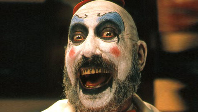 Legendary actor Sid Haig plays the iconic Captain Spaulding in Rob Zombie's 'House of 1000 Corpses'.