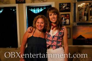 Holly Overton with Sue Artz on the set of the OBX Entertainment web series 'OBXE TV' on July 3, 2014. (photo by OBXentertainment.com)