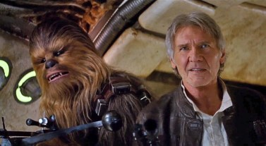 Chewbacca and Han Solo return in 'Star Wars: The Force Awakens'.