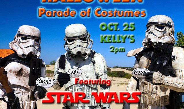 'Star Wars' 501st Legion Carolina Garrison is coming to the 2nd Annual Outer Banks Halloween Parade of Costumes on Sunday, Oct. 25, 2015 at Kelly's in Nags Head!