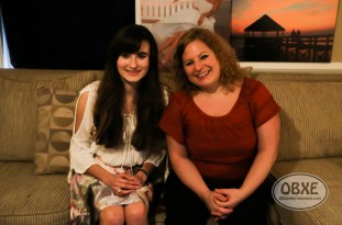 Isabella Pakula with Sue Artz on the set of the OBX Entetainment series 'OBXE TV' on March 7, 2016. (photo by Matt Artz for OBXentertainment.com)