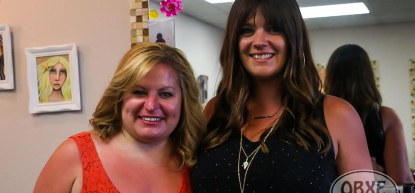 Sue Artz with hair stylist Ashley Dashiell at Dimensions Hair Salon in Kill Devil Hills on June 7, 2016. (photo by Matt Artz for OBXentertainment.com)