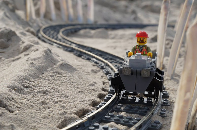 Watch Lego Roller Coaster Ride On Outer Banks Beach