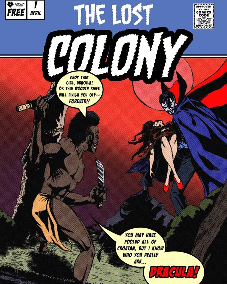 Jeremiah Derby's Scare Fair 2019 exclusive mini-comic 'The Lost Colony' (image courtesy of Badger Studios)