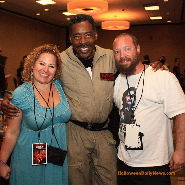 Ernie Hudson ('Ghostbusters', 'The Crow') with Sue and Matt Artz at Blood on the Beach, April 2012 in Virginia Beach.