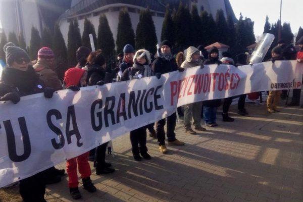 Protest Obywateli RP wHajnówce, 24.02.2018