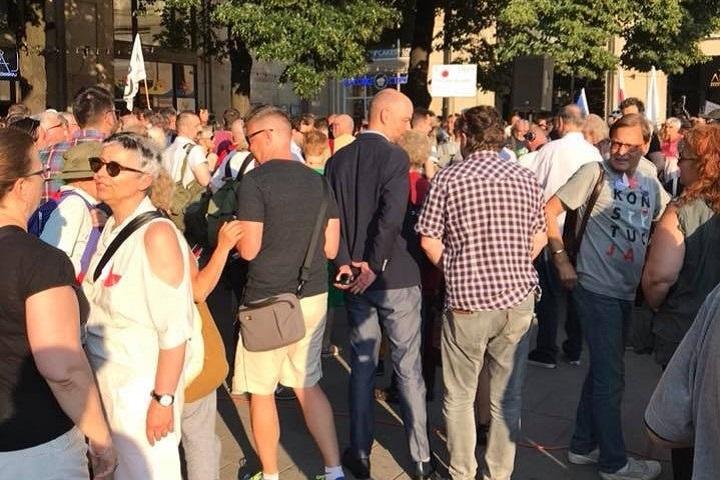 Przed demonstracją wWarszawie