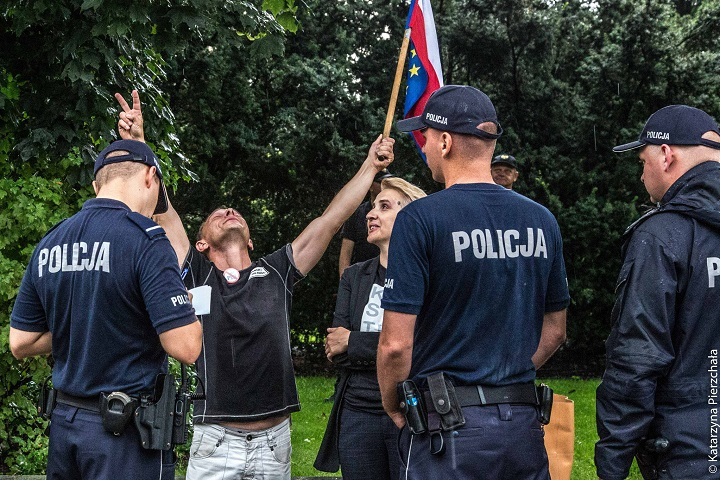 Protest przedSejmem, 18.07.2018 r.