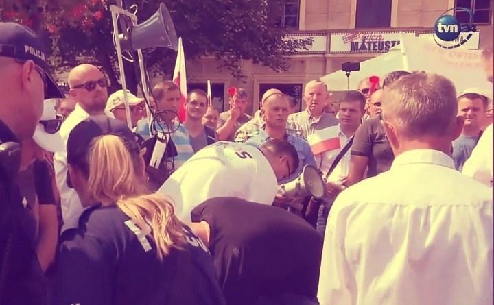 Protest rolników w Sandomierzu