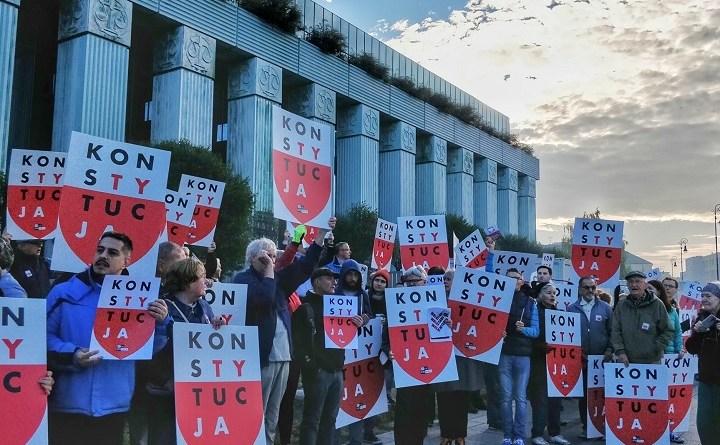 Protest przed Sądem Najwyższym, 11 października 2018 r.