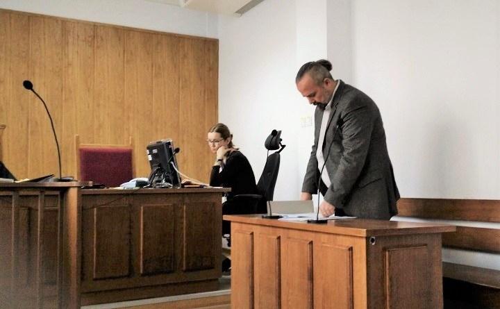 Michał Wojcieszczuk w sądzie