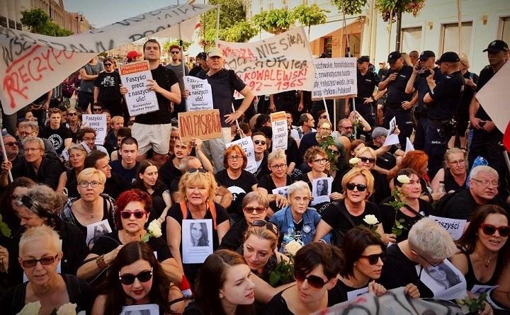 Blokada marszu ONR i Młodziezy Wszechpolskiej, Warszawa, 15 sierpnia 2017