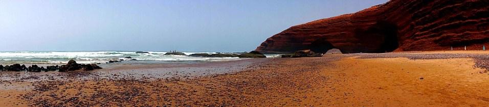 panorama na plaży Legzira