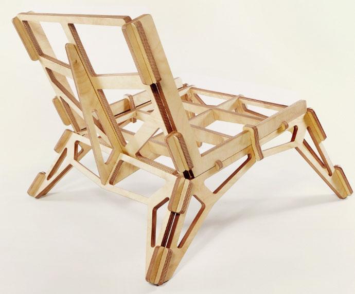 كرسي أنيق للخشب الرقائقي