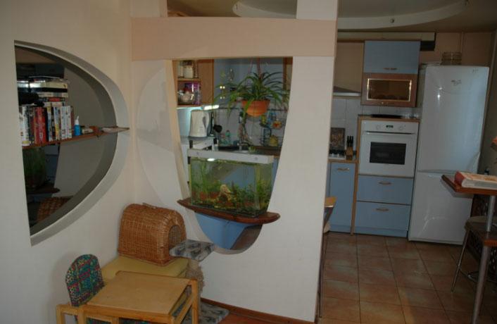 кухня из гипсокартона