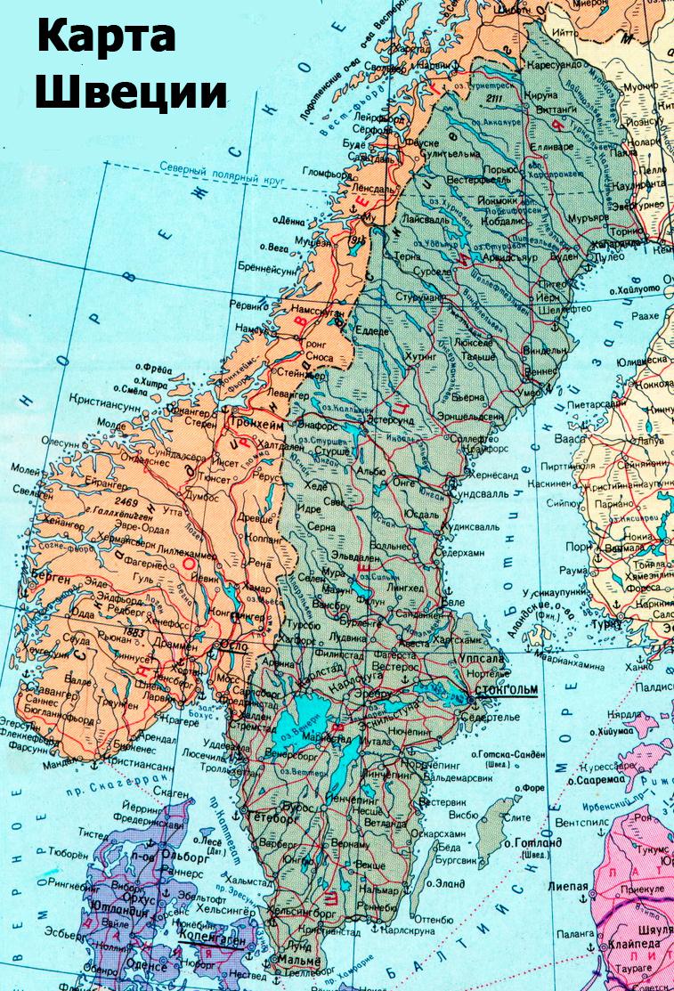 Ruotsin Kartta Venajaksi Yksityiskohtainen Kartta Ruotsista Venajaksi