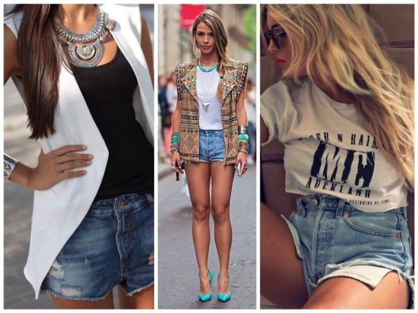Джинсовые шорты женские и мужские: 70 фото!