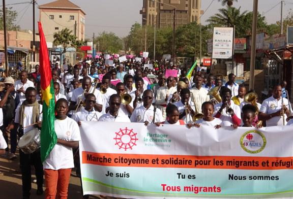 Marche solidaire avec les migrants : 2600 km parcourus à Ouagadougou