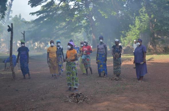 Ramassage de sachets plastiques et nettoyage de l'Hôpital de Diébougou