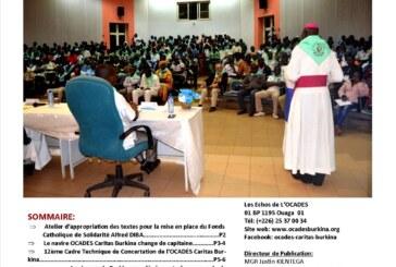 Bulletin d'Information de l'OCADES Caritas Burkina/ Numéro Spécial de l'année 2017