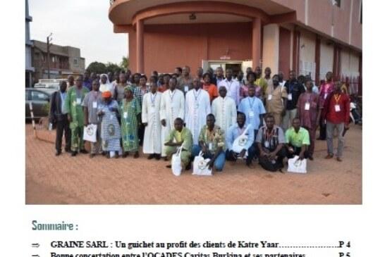 Bulletin d'information de l'OCADES Caritas Burkina/ décembre 2016