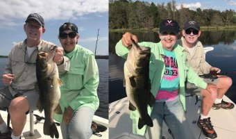 Florida Double Digit Bass Fishing on the Rodman Reservoir