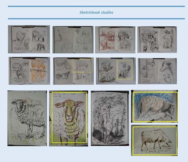 Stefan513593 - project 5 - exercise 1 - sketchbook studies animals